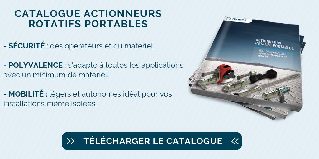 Catalogue actionneur portable de vanne