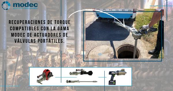 Recuperaciones de torque compatibles con la gama modec de actuadores de válvulas portátiles.