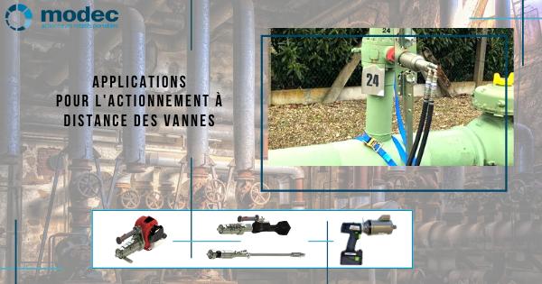 Applications pour l'actionnement à distance des vannes