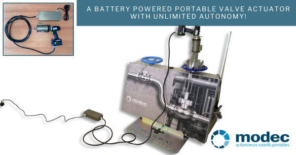A battery powered portable valve actuator with unlimited autonomy!