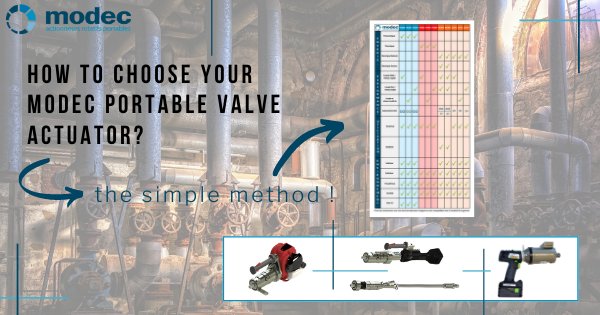 How to choose your modec portable valve actuator?